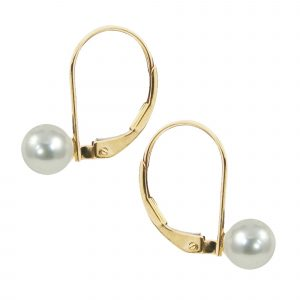 Cultured Akoya Pearl Drop Earrings