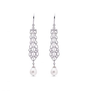 Freshwater Pearl Lace Earrings