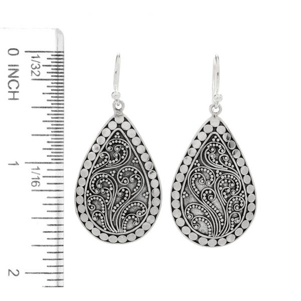 Pear Shape Filigree Earrings