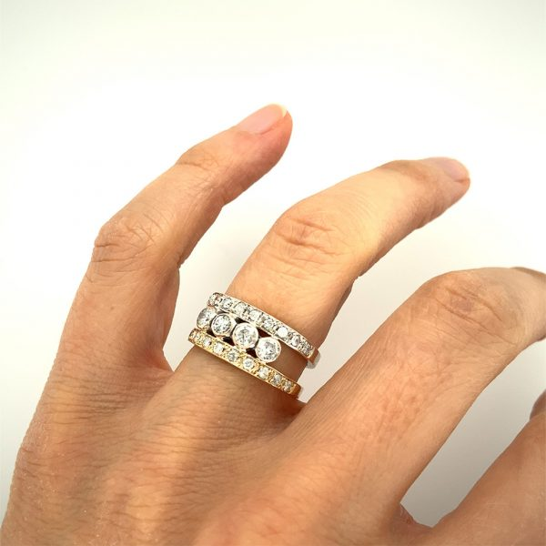 Estate Twin Band Diamond Ring