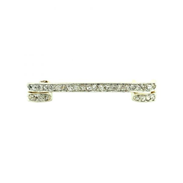 Estate Two-tone Diamond Pin