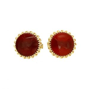 Estate Sardonyx Intaglio Cufflinks