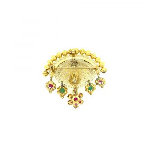 Estate Gemstone Fan Brooch