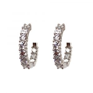 In/Out Lab Grown Diamond Hoops