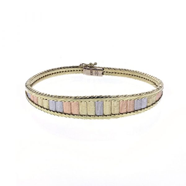 Estate Tri-color Gold Bracelet