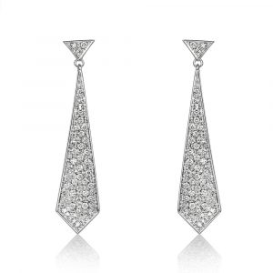 Diamond Kite Drop Earrings