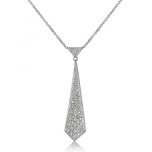 Diamond Tie Pendant Necklace